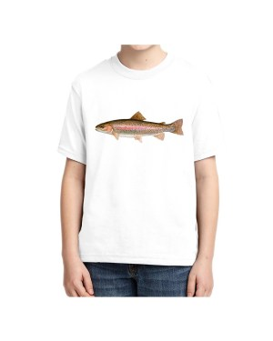 Kids Rainbow Trout 5.6 oz., 50/50 Heavyweight Blend White T-shirt