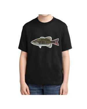 Kids Small Mouth Bass Black T-shirt