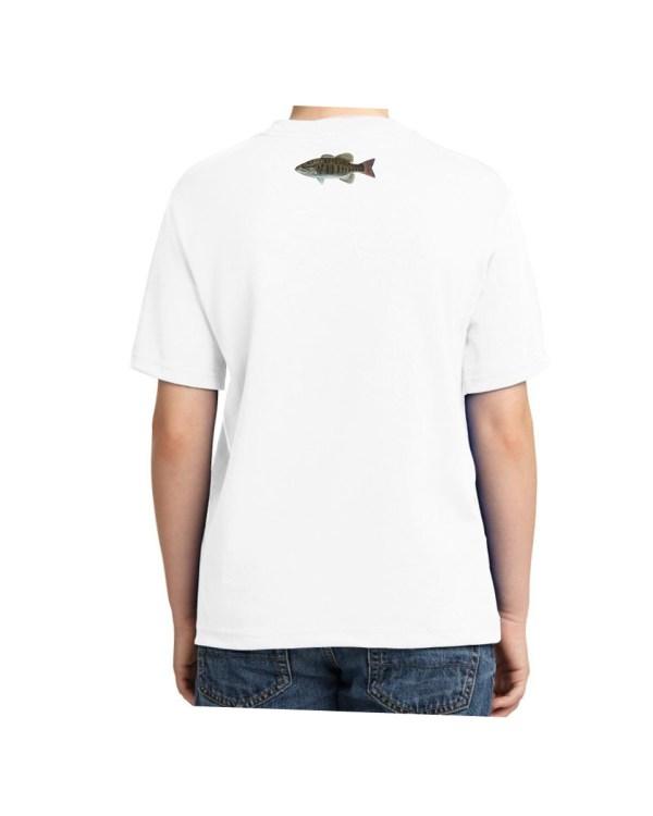 Kids Small Mouth Bass White T-shirt