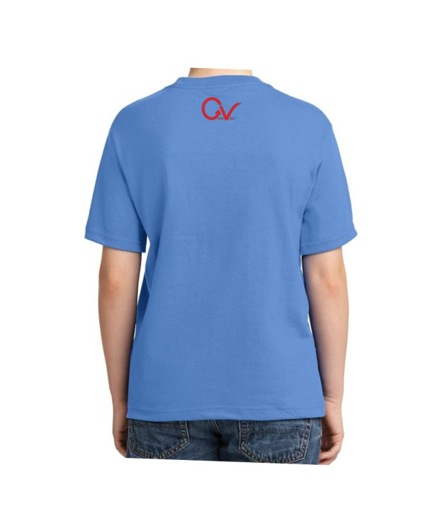 Kids Red and Blue Checker Logo Columbia Blue T-shirt 5.6 oz., 50/50 Heavyweight Blend T-Shirt (Available in 4 colors)