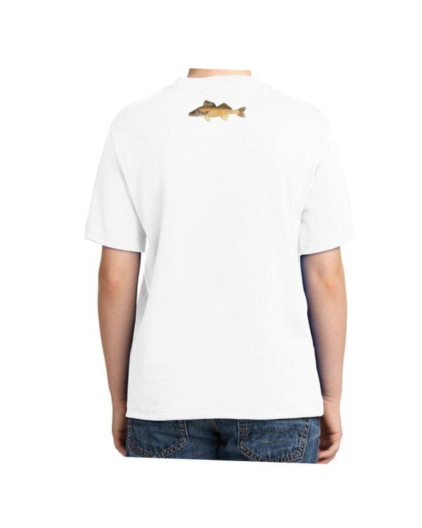 Walleye White Kids Tshirt