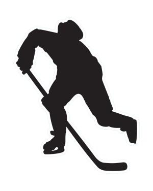 Hockey Black Vinyl Label