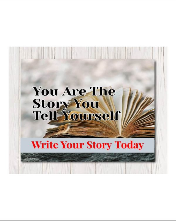 Write Your Story Canvas Wall Art