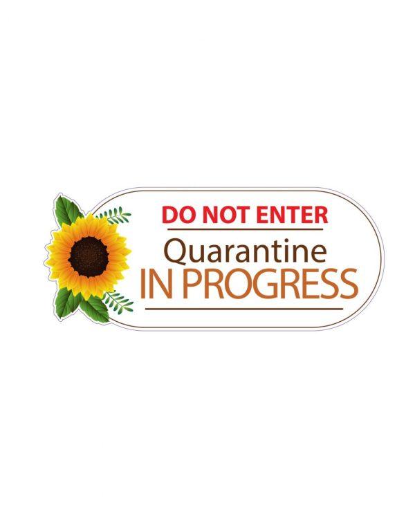 "Quarantine in Progress Wood Virus Magnet Or Sticker 7"" x 2.8"""