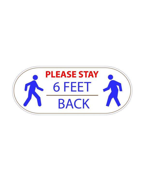 "Stay 6 Feet Apart Corona Virus Magnet or Sticker 7"" x 2.8"""