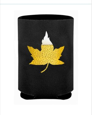 Beer Leaf Black Koozie