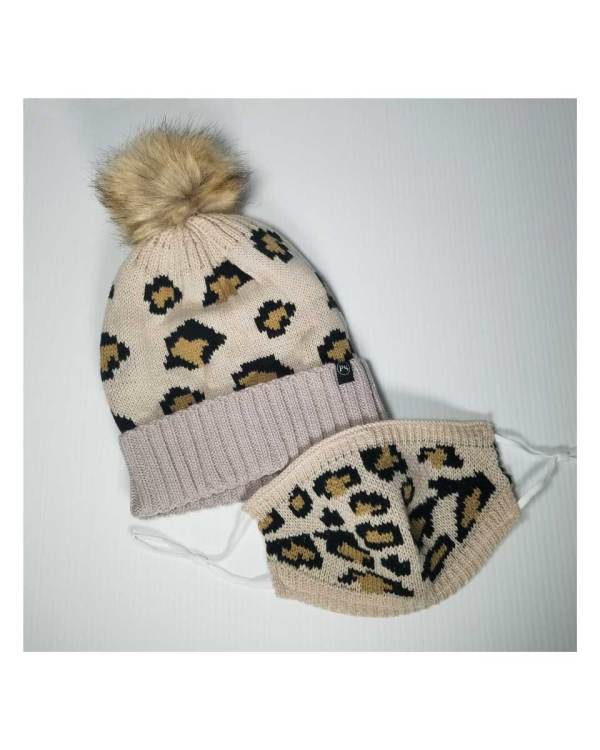 Leopard Beanie and Mask