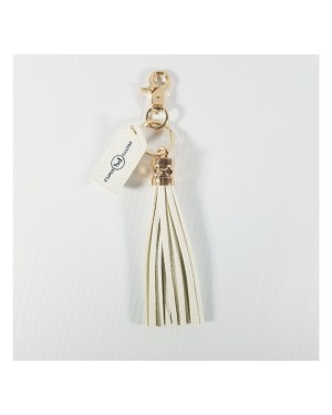 Keychains with Tassels White