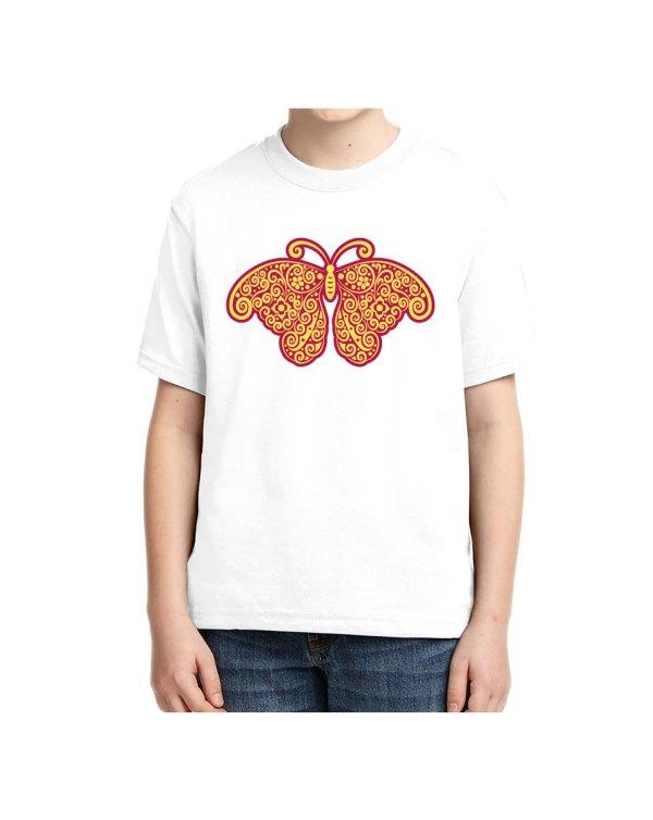 Purple Yellow Butterfly Kids T-shirt