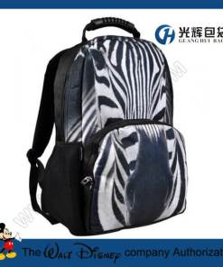 3D zebra print animal backpack college school rucksack bags