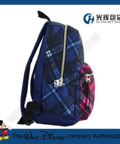 Colorful plaid backpack bags