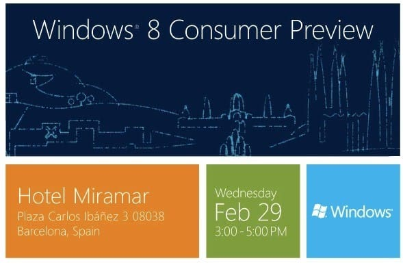 1 windows 8 preview invite at mwc use this - Windows 8 Consumer Preview ISO Image is Available For Download