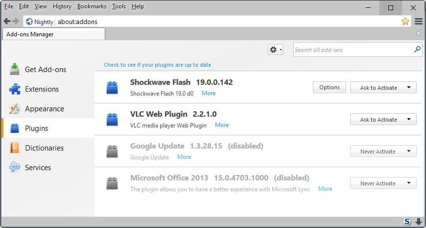 Mozilla announces the end of NPAPI plugins in Firefox - gHacks Tech News