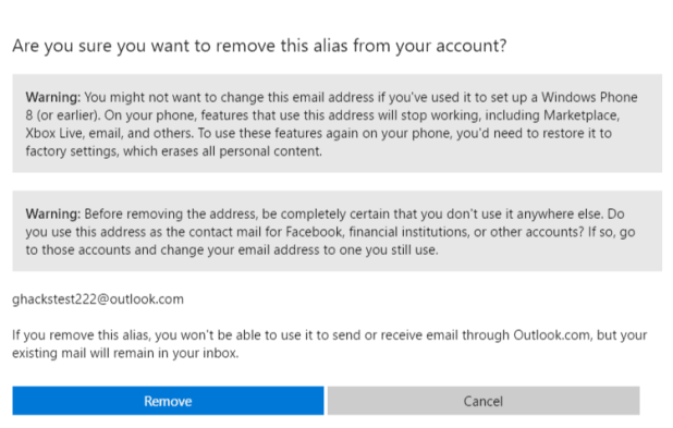 remove email
