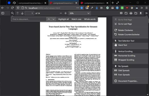 firefox pdf reader dark