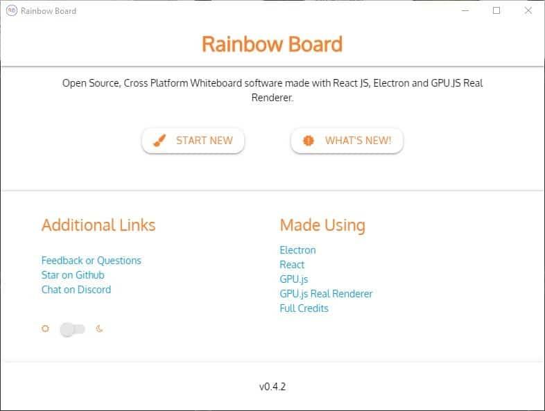 Rainbow Board è un'applicazione per lavagna bianca open source