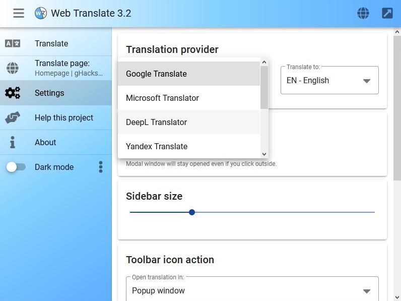 Web Translate: scegli il servizio di traduzione