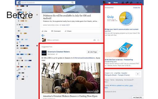 Ad Blocker per l'estensione Facebook per Chrome