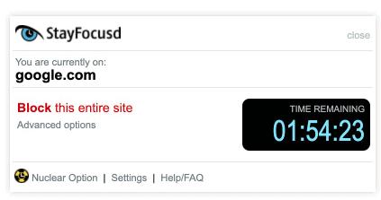 L'estensione StayFocusd Chrome