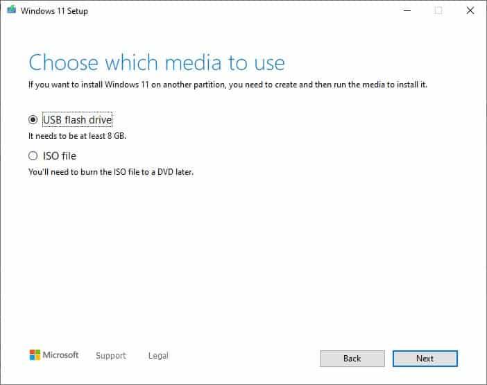Supporto di installazione di Windows 11