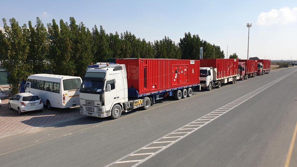 Ghaddar Machinery Subsidary in UAE successfully supplying high horse power Cummins Gen-sets