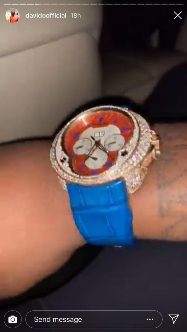 Image result for davido wrist watch