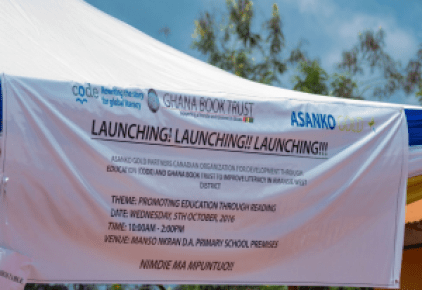 Launch of the Reading Ghana Programme with Asanko Gold Mines