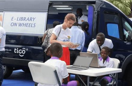 Tigo Ghana's E-Library on Wheels continues to provide digital inclusion