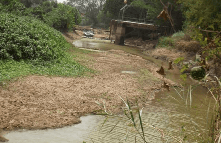 River Densu dries up