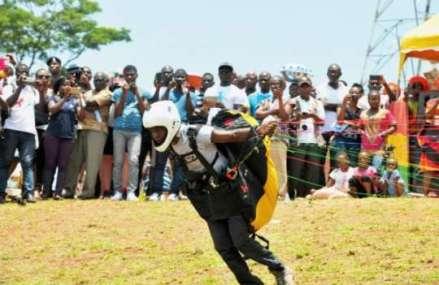 Ghana gets first paragliding pilot
