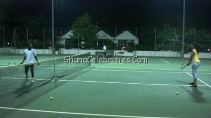Juliet Ibrahim Using Golden Tulip Tennis Court
