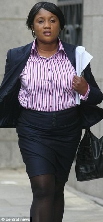 Gloria Dwomoh, appearing outside court at an earlier hearing, was told she should have known better