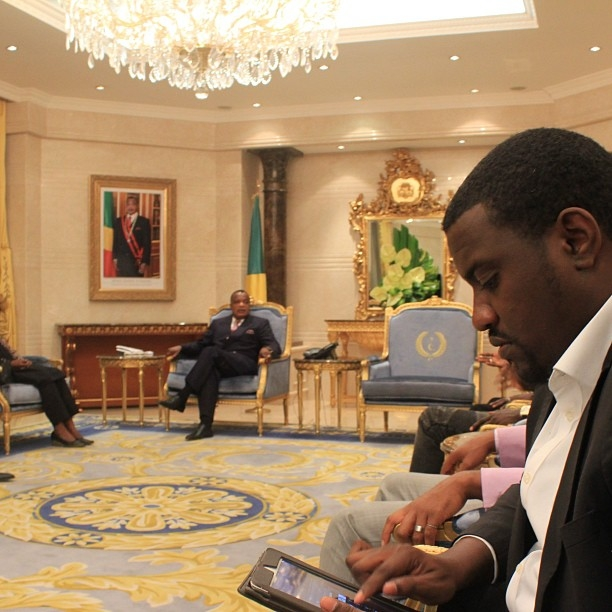 John Dumelo And The President Of Congo