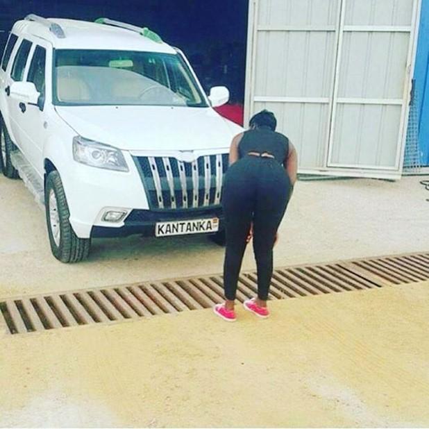 A new Kantanka SUV under inspection