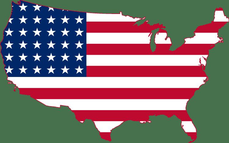 United-States map-flag
