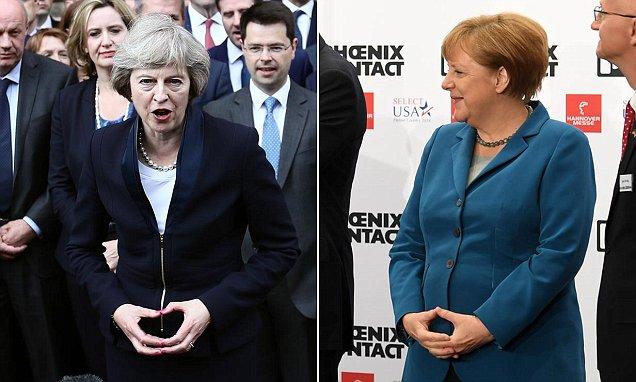 Merkel und ihre Agentin May
