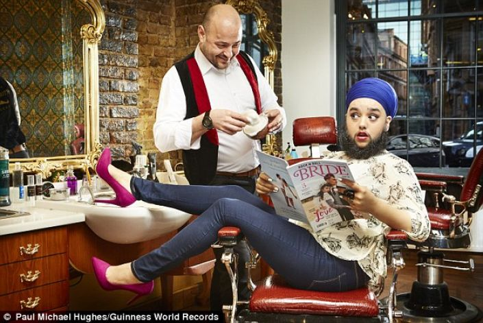 24-Year-Old Woman Breaks Record With Her Beard: Harnaam Kaur Makes Guinness  Book Of Records List - GhanaCelebrities.Com