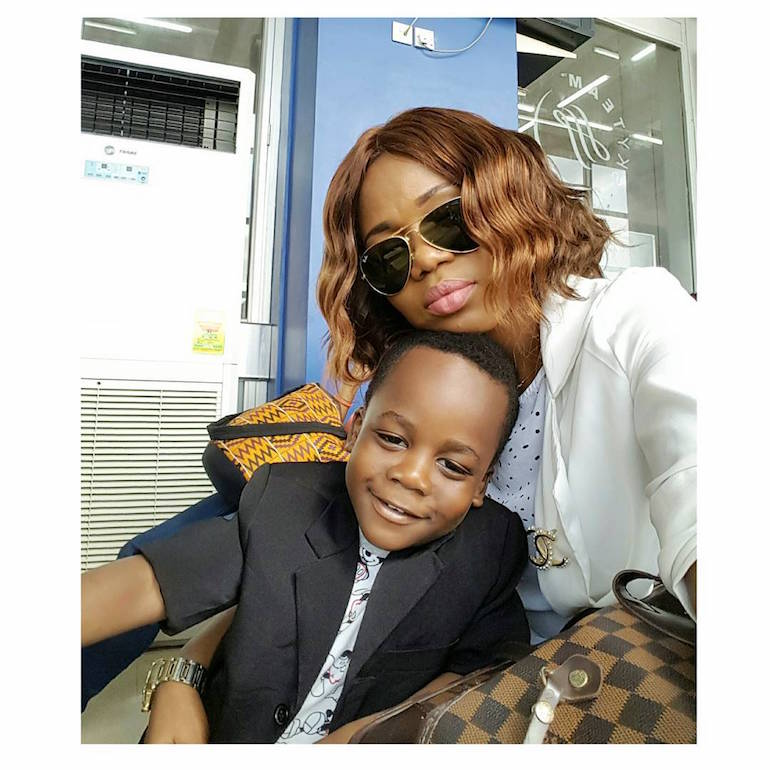 Mzbel and her son