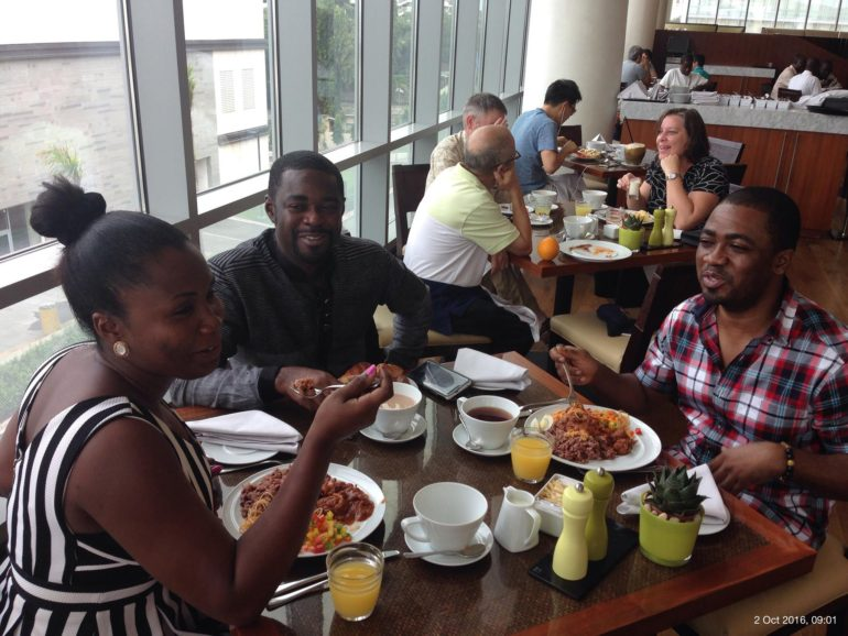 Breakfast at Kempinski Hotel, Accra