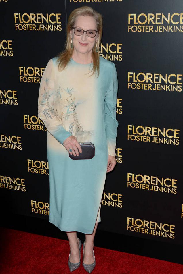 """Florence Foster Jenkins"" New York Premiere - Red Carpet Arrivals Featuring: Meryl Streep Where: New York, New York, United States When: 10 Aug 2016 Credit: Ivan Nikolov/WENN.com"