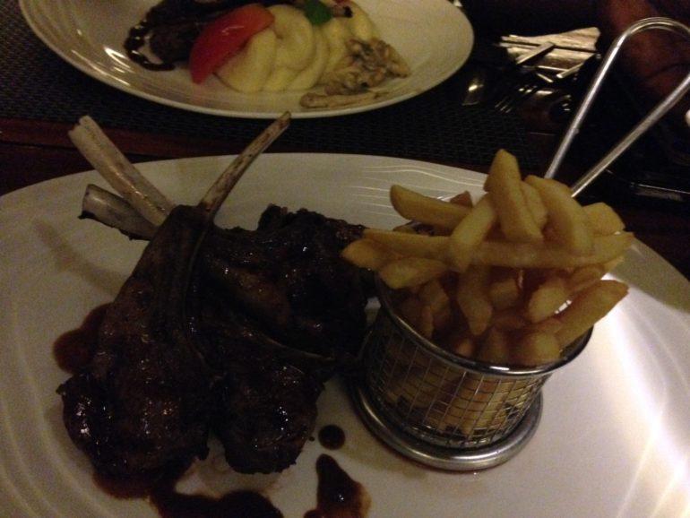 Lamb Chops and Fries