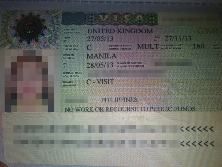 Uk Visitor Visa-File Image