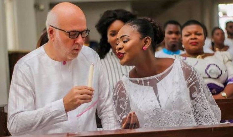 Is Kafui Danku Shading Funny Face Or She's Suggesting That Her Old White Husband Is A '1 Minute' Man?