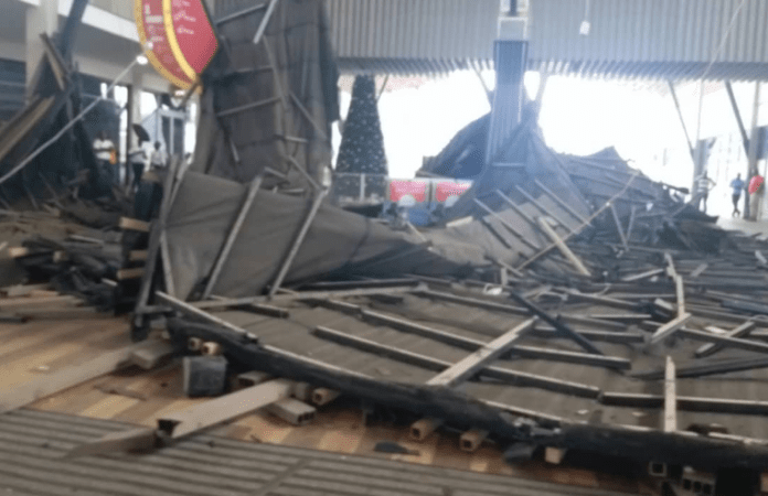 Breaking News: 95 million Dollar Kumasi City Mall Roof Collapses – PHOTOS