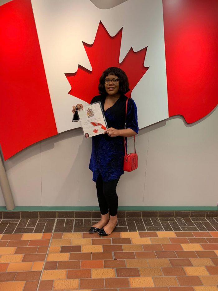 Naija lady3 e1554128815460 - Nigerian Lady Says She'll Burn Her Nigerian Passport After Receiving Canadian Citizenship