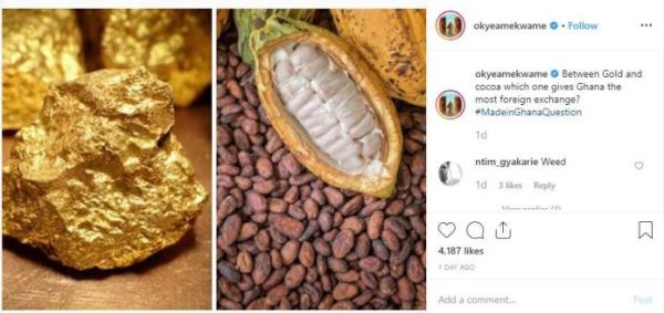 Okyeame Kwame post - SCREENSHOTS: 'We Get More Foreign Exchange In Slay Queens Than Gold And Cocoa' — Social Media User Replies Okyeame Kwame