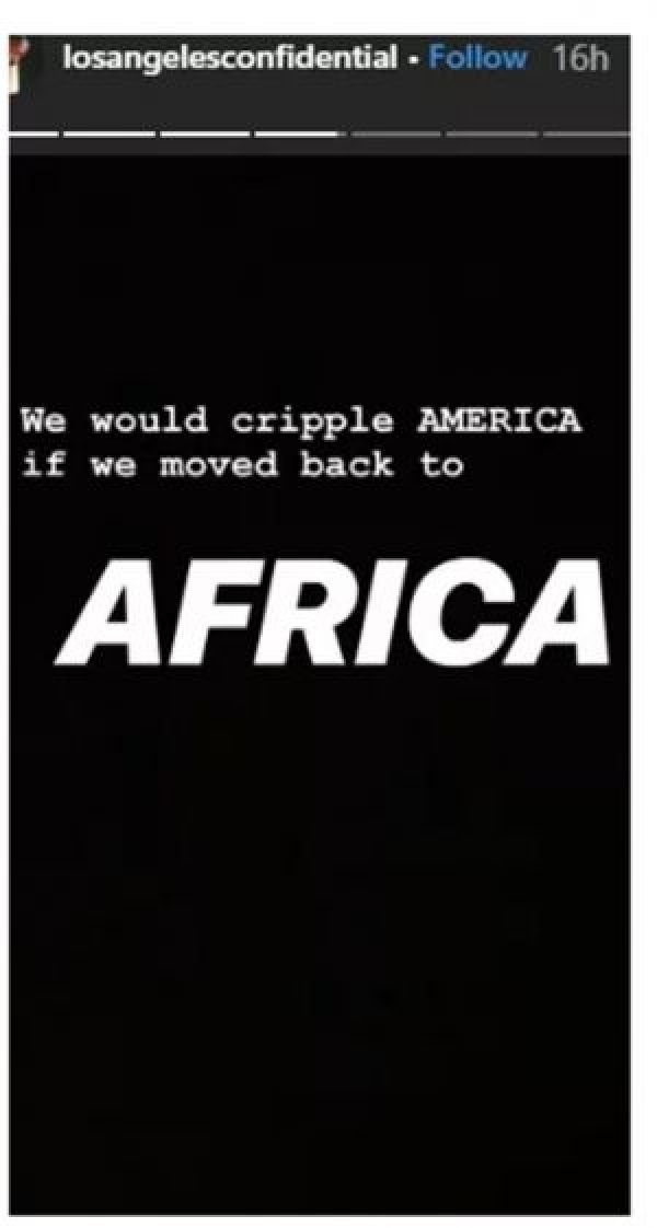 The Game screen - SCREENSHOT: 'America Will Be Crawling If All Blacks Go Back To Africa' — The Game