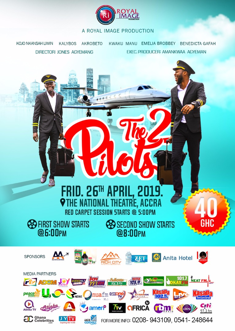 WhatsApp Image 2019 03 31 at 7.56.01 AM - 'The 2 Pilots': The Movie Shot With Lilwin and Kalybos as the Pilots to Premiere on Friday at the National Theatre