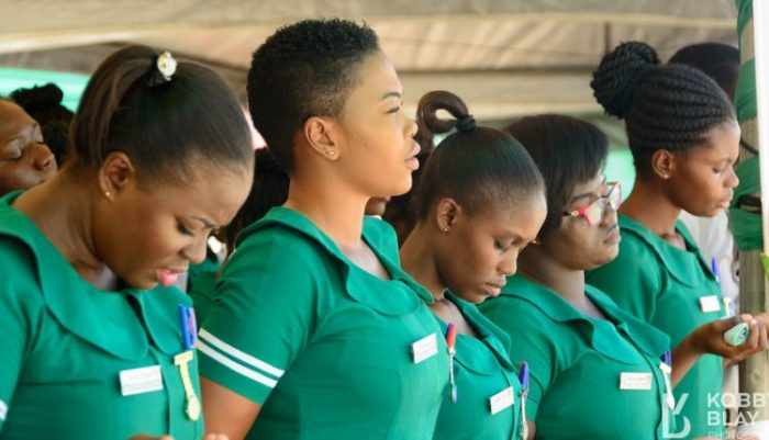 female nurses e1554469912622 - Please Don't Be Scared Of Us, Be Bold And Approach Us – Pretty Female Nurses 'Beg' Ghanaian Men
