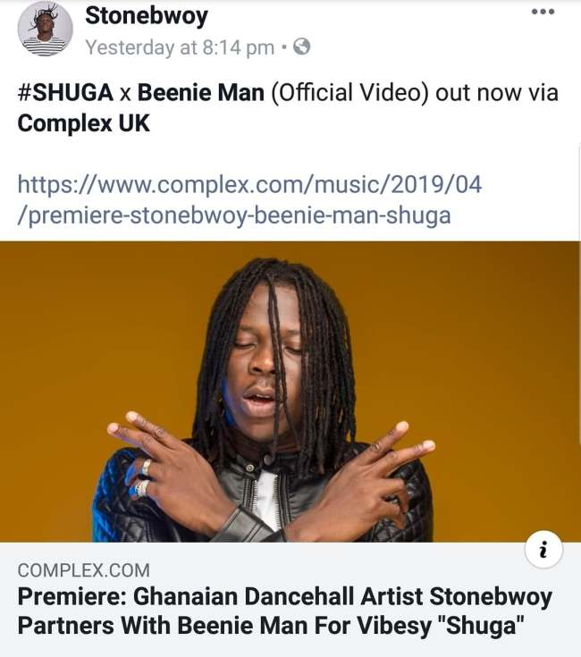 stonen - SCREENSHOTS: Social Media Users Blast Stonebwoy For Promoting A Foreign Blog — SEE